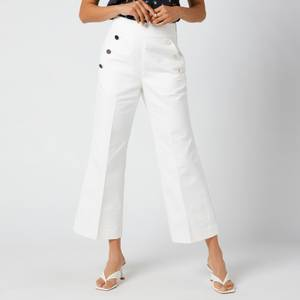 Kate Spade New York Women's Sailor Twill Pant - French Cream