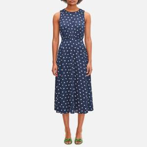 Kate Spade New York Women's Paper Boats Midi Dress - Squid Ink