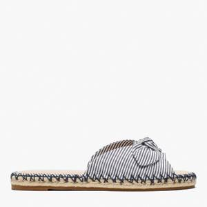 Kate Spade New York Women's Saltie Shore Canvas Espadrille Sandals - Parchment/Blazer Blue