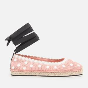 Kate Spade New York Women's Knottingham Knitted Espadrilles - Flirty Rose/Optic White