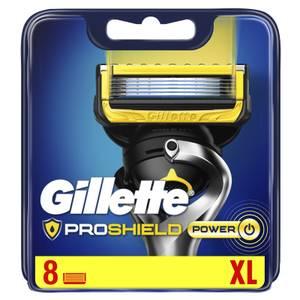 Gillette ProShield Power Razor Blade Refills, 8 Pack