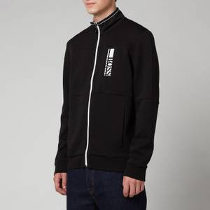 BOSS Athleisure Men's Skaz 1 Zip Through Sweatshirt - Black