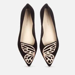 Sophia Webster Women's Butterfly Pointed Flats - Black/Rose Gold