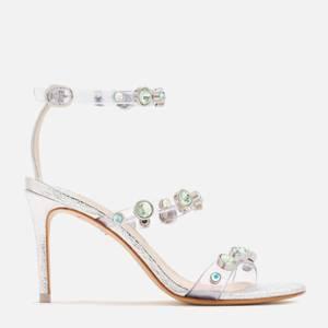 Sophia Webster Women's Rosalind Gem Mid Heeled Sandals - Silver/Pastel