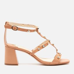 Sophia Webster Women's Dina Stud Mid Block Heeled Sandals - Praline/Silver