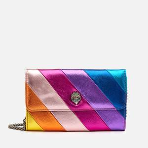 Kurt Geiger London Women's K Stripe Metallic Chain Wallet - Multi