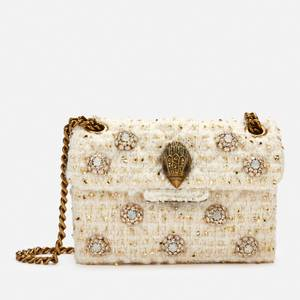 Kurt Geiger London Women's Tweed Mini Kensington X Bag - Bone