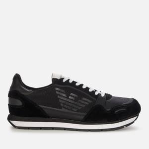 Emporio Armani Men's Running Style Trainers - Black