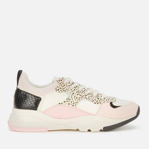 Ted Baker Women's Izsla Running Style Trainers - White/Pink