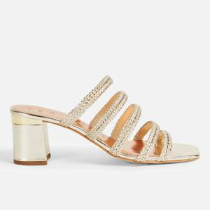 Ted Baker Women's Emaliam Block Heeled Mules - Gold