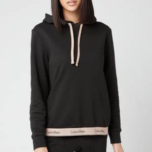 Calvin Klein Women's Pull Over Hoodie - Black/Honey Almond