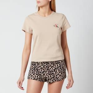 Calvin Klein Women's Short Sleeve Crew Neck - Charming Khaki