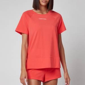 Calvin Klein Women's Short Sleeve Crew Neck - Coral