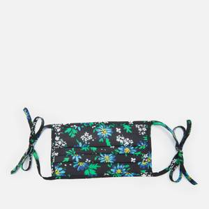 RIXO Women's Garden Party Hope Face Covering & Pouch - Black