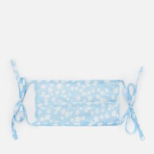 RIXO Women's Buttercup Hope Face Covering & Pouch - Blue/White