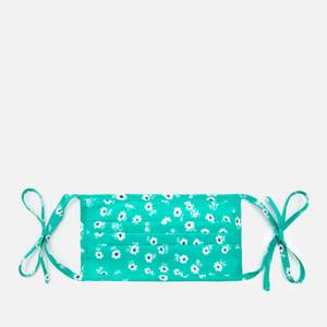 RIXO Women's Micro Daisy Hope Face Covering & Pouch - Green/White