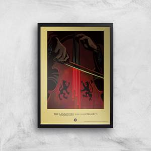 Game of Thrones Lannisters Affiche Artistique
