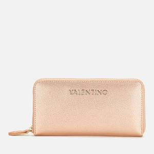 Valentino Bags Women's Divina Large Zip Around - Rose Gold