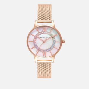 Olivia Burton Women's Wonderland Rainbow Mesh Watch - Rose Gold