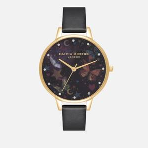 Olivia Burton Women's Night Garden Demi Vegan Watch - Black