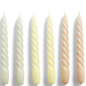 HAY Candle Twist Set of 6 - Beige/Citrus/Peach