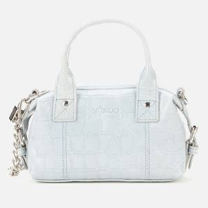 Núnoo Women's Mini Bobby Croco Top Handle Bag - Light Blue