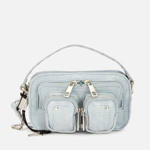Núnoo Women's Helena Croco Cross Body Bag - Light Blue