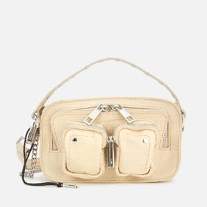 Núnoo Women's Helena Croco Cross Body Bag - White