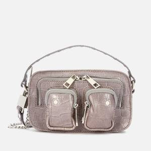 Núnoo Women's Helena Croco Cross Body Bag - Dark Grey