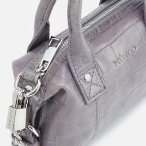 Núnoo Women's Mini Bobby Croco Top Handle Bag - Dark Grey