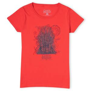 Game of Thrones The Iron Throne Women's T-Shirt - Red