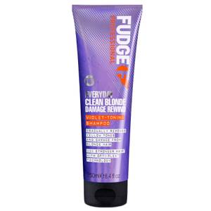 Fudge Professional Everyday Clean Blonde Damage Rewind Violet Toning Shampoo