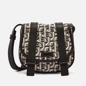 KENZO Women's Monogram Jacquard Mini Messenger Bag - Misty Grey