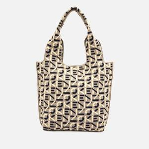 KENZO Women's Recycled Monogram Flyknit Small Tote Bag - Dove Grey