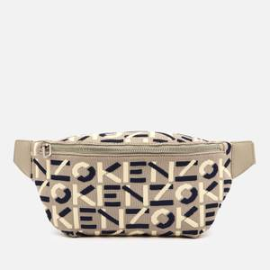 KENZO Women's Recycled Monogram Flyknit Belt Bag - Dove Grey