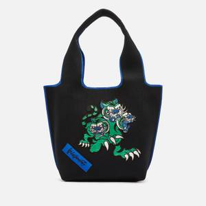 KENZO Women's Kansai Small Tote Bag Artist Collab - Navy Blue