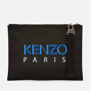 KENZO Kampus Canvas Large Clutch - Black
