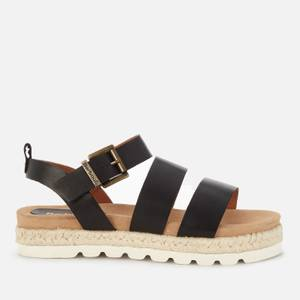 Barbour Women's Gabbie Leather Espadrille Sandals - Black