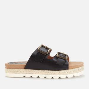 Barbour Women's Lola Leather Espadrille Sandals - Black