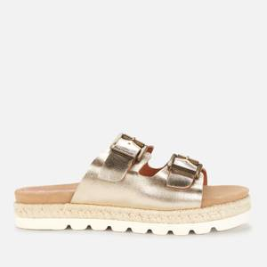 Barbour Women's Lola Leather Espadrille Sandals - Gold