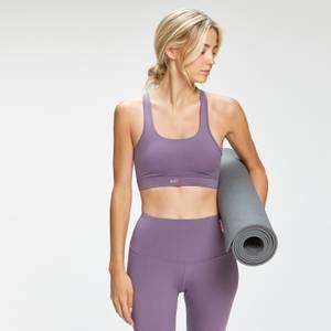 MP Women's Composure Twist Back Sports Bra - Smokey Purple