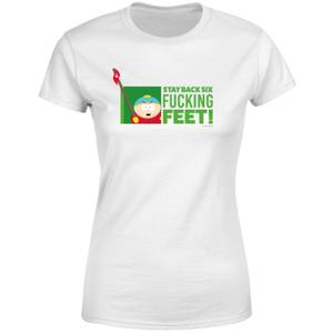 South Park Cartman Six Feet Women's T-Shirt - White