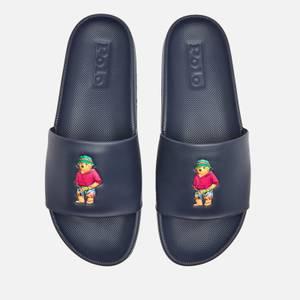Polo Ralph Lauren Men's Cayson Beach Bear Slide Sandals - Newport Navy/Beach Bear