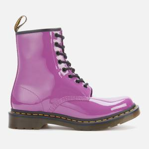 Dr. Martens Women's 1460 Patent Lamper 8-Eye Boots - Bright Purple