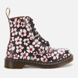 Dr. Martens Women's 1460 Smooth Leather Pascal Boots - Black/Red Pansy