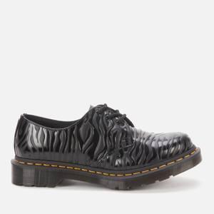 Dr. Martens Women's 1461 Embossed Leather 3-Eye Shoes - Black Zebra