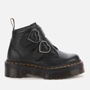 Dr. Martens Women's Devon Heart Leather Ankle Boots - Black