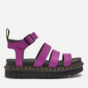 Dr. Martens Women's Blaire Leather Strappy Sandals - Bright Purple