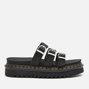 Dr. Martens Women's Blaire Leather Slide Sandals - Black