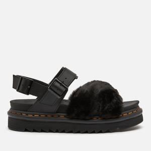 Dr. Martens Women's Voss Ii Fluffy Sandals - Black